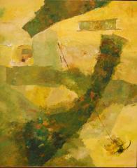 UNTITLED ABSTRACT (GREEN/YELLOW), Ram Kumar