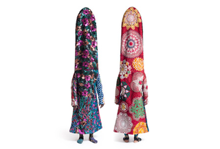 Soundsuit (front and back views), Nick Cave