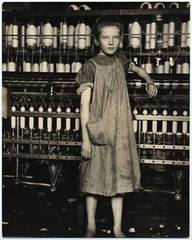 An Anemic Little Spinner in a New England Cotton Mill, (North Powal Vermont), Lewis Hine