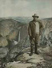 President Theodore Roosevelt on Glacier Point, Yosemite,