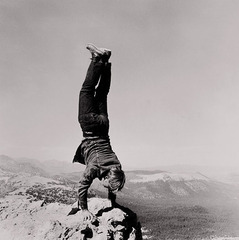 8 Natural Handstands (detail), Robert Kinmont