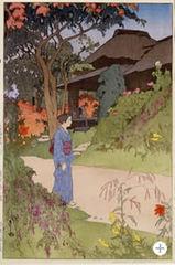 "Autumn in the Hyakkaen Garden ""Twelve Scenes of Tokyo"", Hiroshi Yoshida"