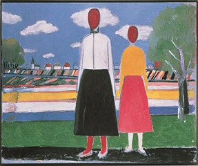 Two Figures in a Landscape, Kazimir Malevich