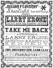 "Original drawing for ""Take me Back"" invite  , Larry Krone"