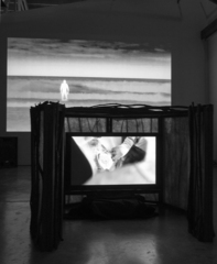 Incident Energy- installation view, Channel 1 & 2: Birth, Marne Lucas, Marne Lucas & Jacob Pander