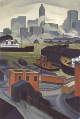 From Brooklyn Heights, George Ault