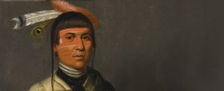 No-Tin (Wind), a Chippewa Chief, (detail), Henry Inman