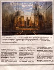 \'Requiem\' : (a passage of influence)... Publicity, Vivian S. Bedoya (artwork reproduced and discussed in newspaper article)