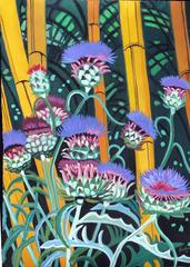 """Thisles and Bamboo"", Deborah Sudran"