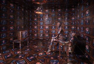 \'Waking Up in News America\' installation (detail), Robert Heinecken