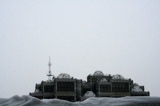 Mosque on The Snow  ,Driant Zeneli
