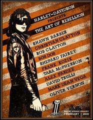"""Art of Rebellion"" show poster, Shepard Fairey"