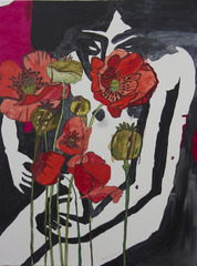 Kirchner with Poppies , Gina Magid