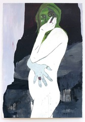 Self portrait with green face , Gina Magid