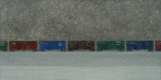 Long Train in Snow, Theodore Svenningsen