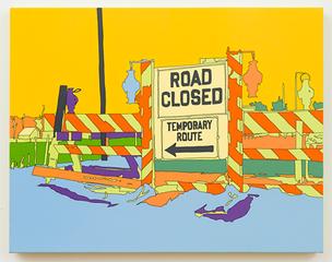 """Arthur Rothstein """"Detour sign, Chillicothe, Ohio, Lisa Ruyter"""