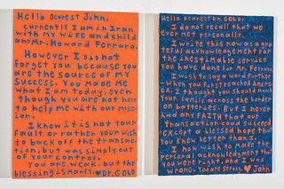 Ego Letters, (Diptych) , John O\'Connor