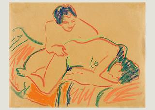 Amorous couple, Ernst Ludwig Kirchner