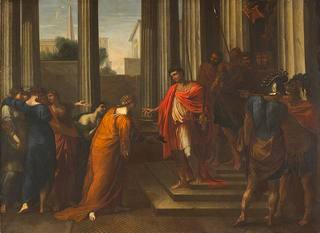 Augustus and Cleopatra, Unknown artist (attribution revoked from Nicholas Poussin)