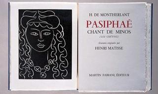 frontispiece in the book Pasiphaé: Chant de Minos (Les Crétois) by H. de Montherlant (Paris: Martin Fabiana, 1944), Henri Matisse