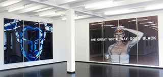 "Installation View ""Blue Note II"", Katharina Sieverding"