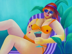 Awomanof_leisureoil30x40