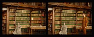 Gabrielle avec P\'tit Charcot dans La Bibliothèque Charcot (from the series ANAGNOSIS OF HYSTERIA), Gabriella Daris
