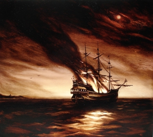 Der_burnin_ship__2008__edward_walton_wilcox__oil_on_panel__32_x_36_inches