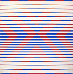 Red & Blue Chevrons, Peter Sedgley
