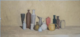 """""""Still Life #2""""  2013, oil on canvas, 24""""x48"""" , Marianne Perry Salas"""