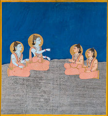 The Transmission of Teachings from the Gods to the Mahasiddhas (Nath Charit) (detail),