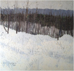 Winter Landscape, Gray Woods, Nanno de Groot