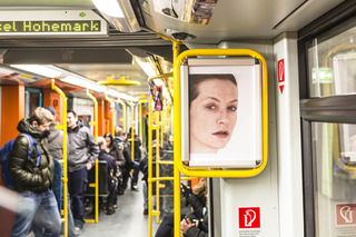 Portrait of an Image (with Isabelle Huppert), U-Bahn, Frankfurt , Roni Horn