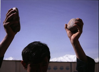 Clapping with Stones,Lida Abdul