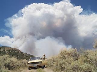 George Chasing Wildfires, Eureka, Nevada, Lucas Foglia
