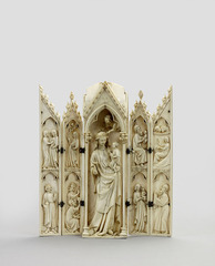 Polyptych: Virgin and child and scenes from the infancy of christ,