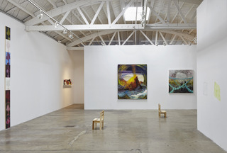 Installation view, Alexandra Wiesenfeld, Guan Rong, Josh Atlas, Srijon Chowdhury