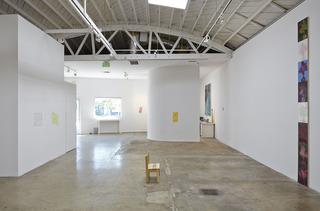 Installation view, Alexandra Wiesenfeld, Josh Atlas, Srijon Chowdhury