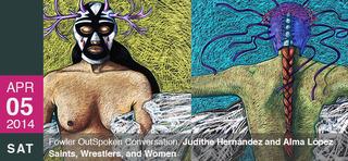 Luchadora Trilogy (detail), JUDITHE HERNÁNDEZ
