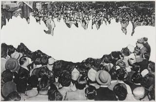 Crowds with Shape of Reason Missing Example 2, John Baldessari