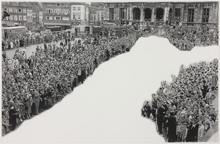 Crowds with Shape of Reason Missing Example 1, John Baldessari