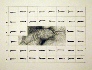 censored grid #8, Betty Tompkins
