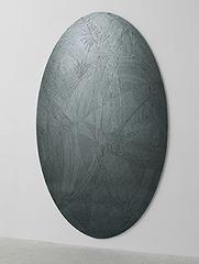 Untitled (grey ellipse), Jim Hodges