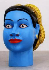 UNTITLED (HEAD - BLUE), Ravinder Reddy