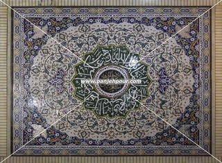 Iranian traditional Haft-Rang tile (Painted tile), Mahdi Panjehpour