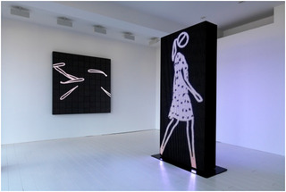 Installation view, Julian Opie