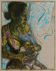 baby in blue tam, Billy Childish