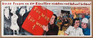 Diese Fragen an die Kuenstler richten - auf Antwort bestehen! (Pose these questions to the artists - insist on answers!) , Jörg Immendorff