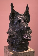 German Shepherd Head, Allison Schulnik
