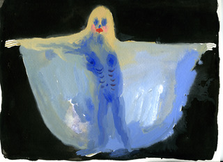 Blue Dancer #3, Allison Schulnik